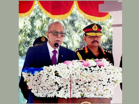 President asks military to get ready for supreme sacrifice for nation