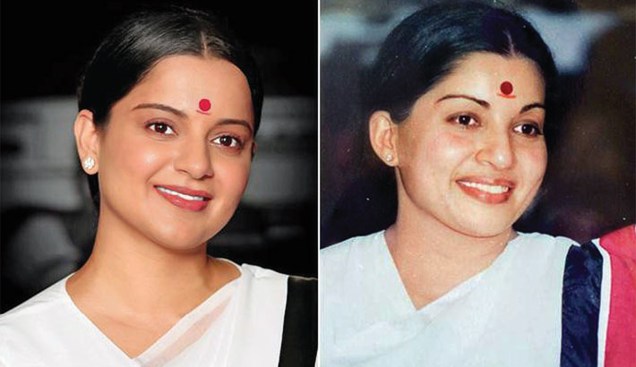 Kangana's new look as young Jayalalithaa revealed