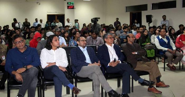 Radwan Mujib enjoys 'Hasina: A Daughter's Tale' with students