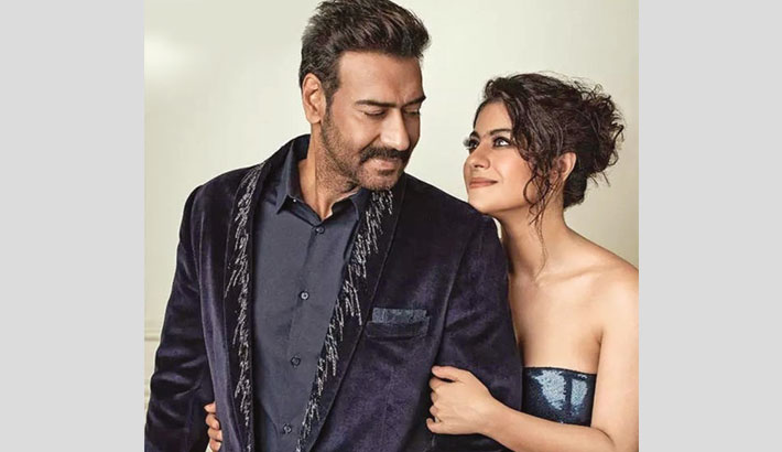 Kajol tutors Ajay on how to click selfies
