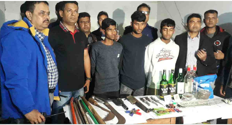 Firearms, bomb making materials recovered from Jashore dormitory