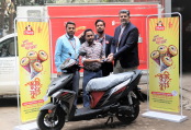 'Polar Ice Cream Scooty-Foorti' campaign received his prize