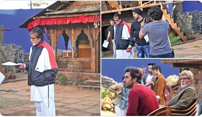 Amitabh shares new pics from Brahmastra sets with Ranbir
