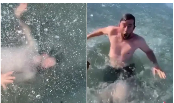 TikTok star gets trapped under Ice, 21 million views for terrifying video