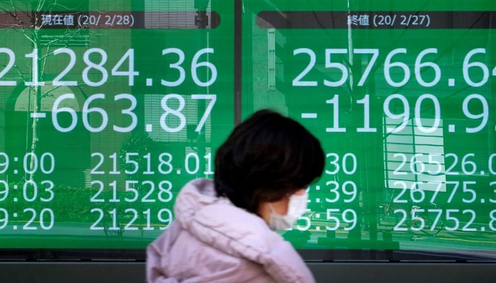 Markets fall as virus spreads around the world