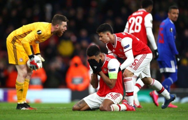 Arsenal knocked out of Europa League in dying seconds by Olympiakos