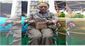 Little known elderly author's book turns heads at Ekushey Book Fair