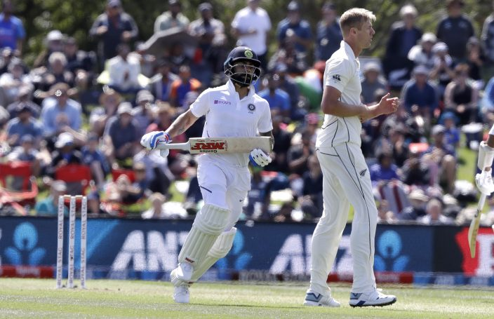 India 85-2 at lunch on Day 1 of 2nd test against New Zealand