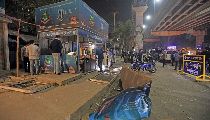 Two cops, three others hurt in Chattogram police box explosion