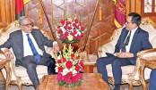 Brunei High Commissioner to Bangladesh Haji Haris bin Othman calls on President Md Abdul Hamid