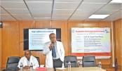 VC of BSMMU Prof Dr Kanak Kanti Barua speaks at a training programme