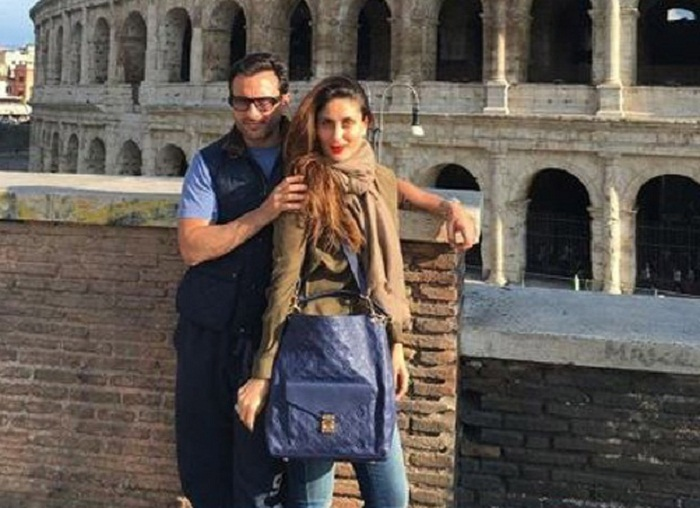 Saif, Kareena pray for Italy