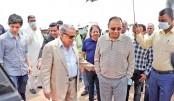 Bashundhara Group chairman visits Purbachal CBD project