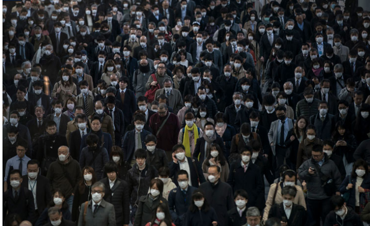 Tokyo's streets are full of people, a day after the governor urged social distancing