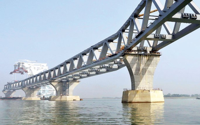 4.05km of Padma Bridge visible as 27th span installed