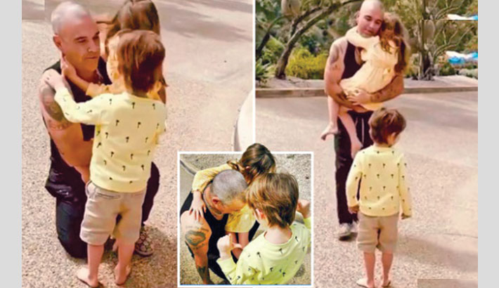 Robbie Williams reunites with family after 3-week quarantine