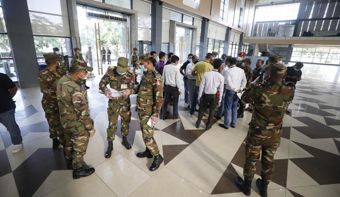 Govt representatives visit ICCB for setting up corona hospital