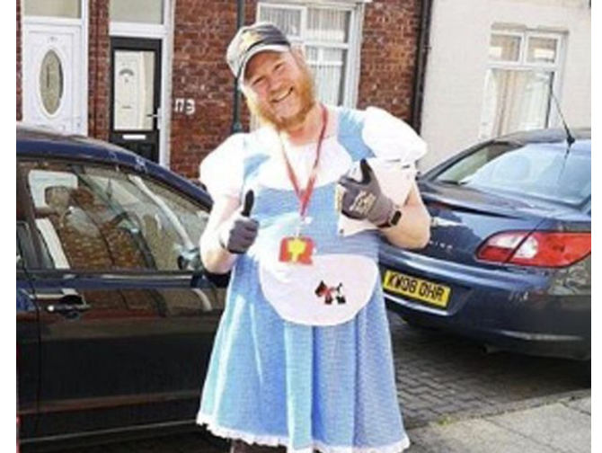 Postman does deliveries in fancy dress to 'lift spirits' of people in lockdown