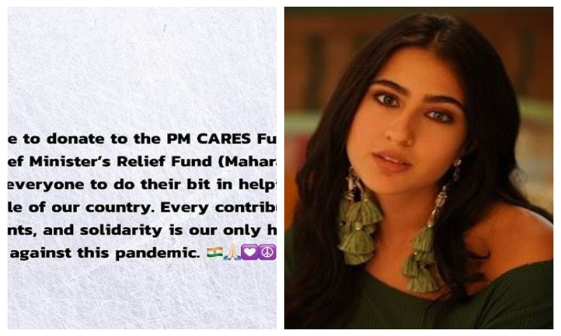 Sara Ali Khan becomes youngest actor to donate for COVID-19