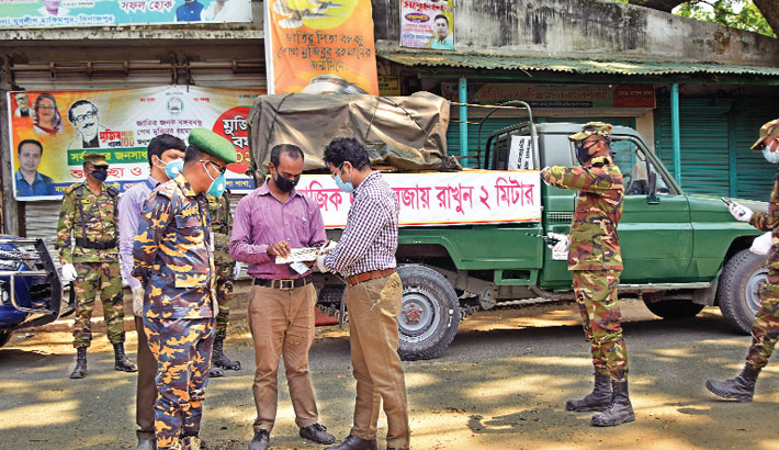 Bangladesh Army have launched a campaign to maintain social distancing and home quarantine guidelines
