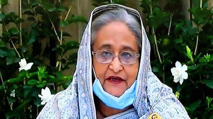 Prime Minister Sheikh Hasina's videoconferencing begins