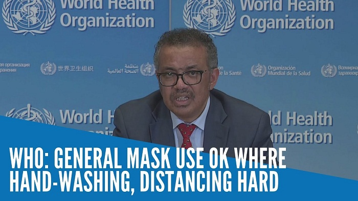 General mask use OK where hand-washing, distancing hard: WHO