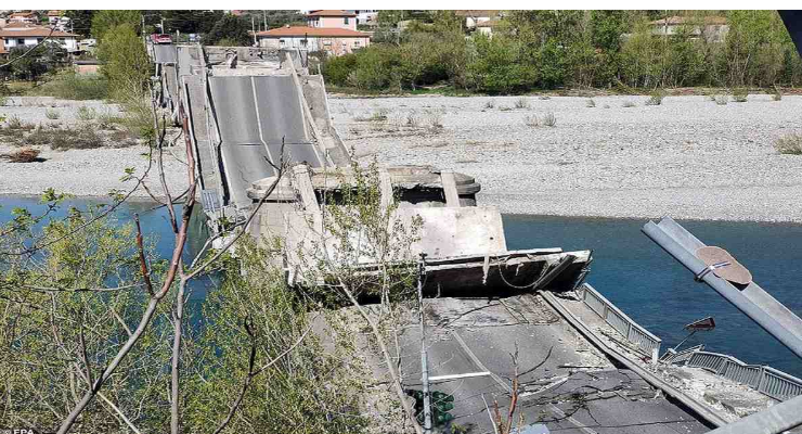Bridge collapses in Italy, newest crumbling infrastructure