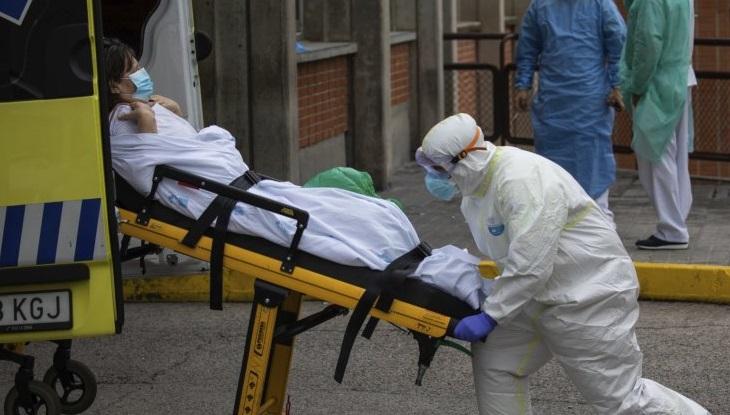 Spain daily virus deaths 757, second successive rise