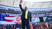 Virus prevents play at Trump-opened world's biggest cricket stadium