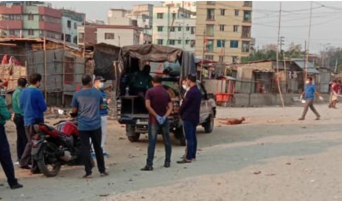 Slum in Sher-e-Bangla Nagar  locked down after resident tests positive