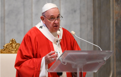 Pope says Covid-19 pandemic could be nature's