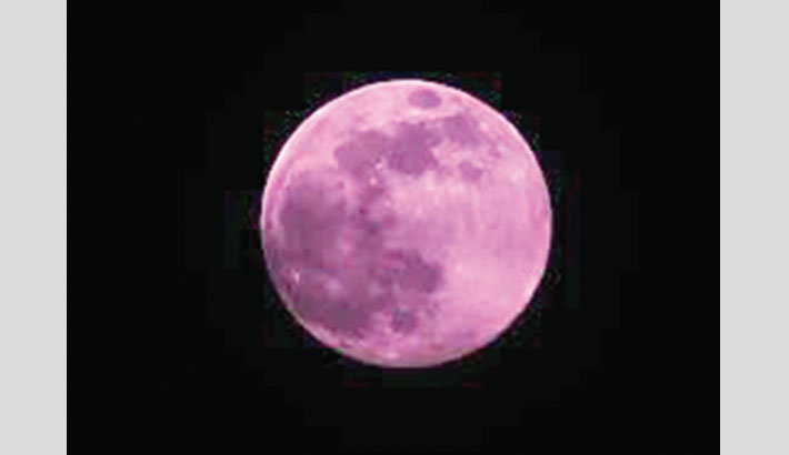 'Pink moon' takes over night skies