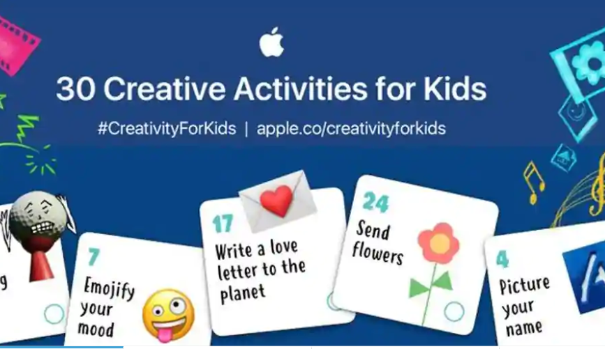 Apple has a 30-day plan to keep  kids entertained during the lockdown