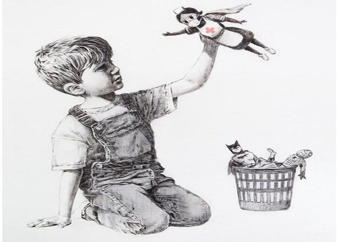 New Banksy artwork appears at Southampton hospital