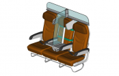 This airplane seat design helps you socially distance on board