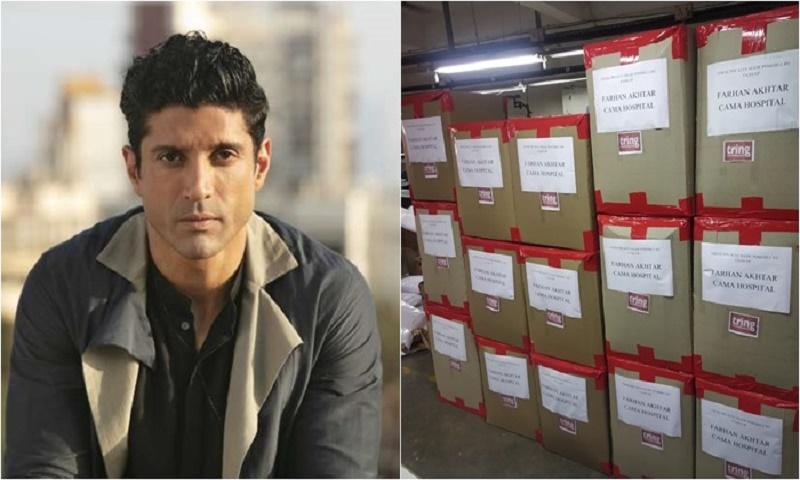 Farhan Akhtar releases consignment of PPE Kits to Mumbai's Cama Hospital