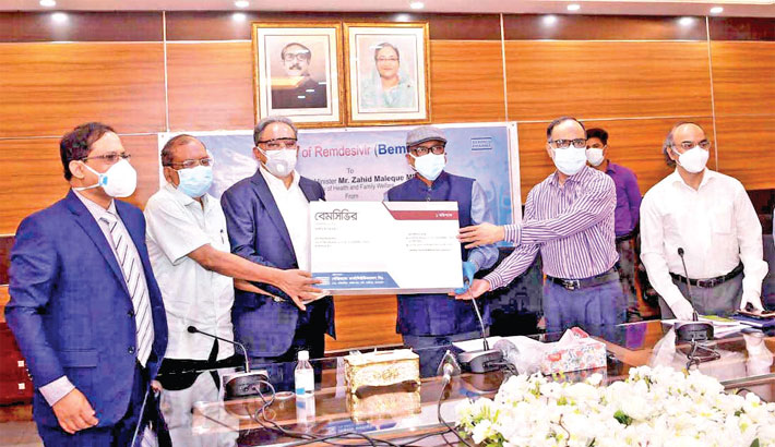 Beximco Pharmaceuticals hand over a clinical sample