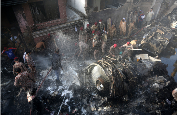 At least 38 dead in Pakistan plane crash, plane lost engines before crash
