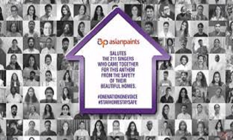 Asian Paints supports Indian PM Cares Fund as Key Sponsor for 'One Nation One Voice' anthem