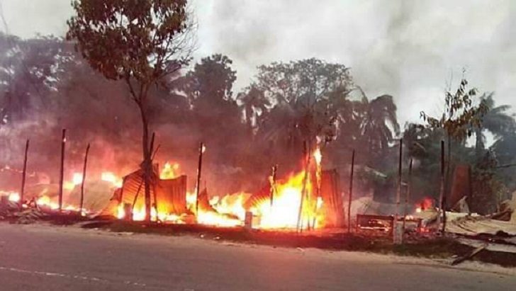 35 shops gutted in Khulna