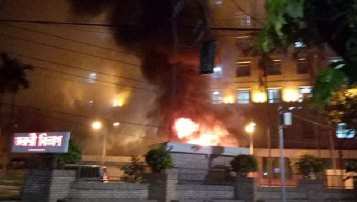 United Hospital catches fire
