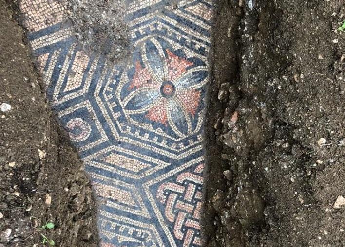Roman mosaic floor found under Italian vineyard