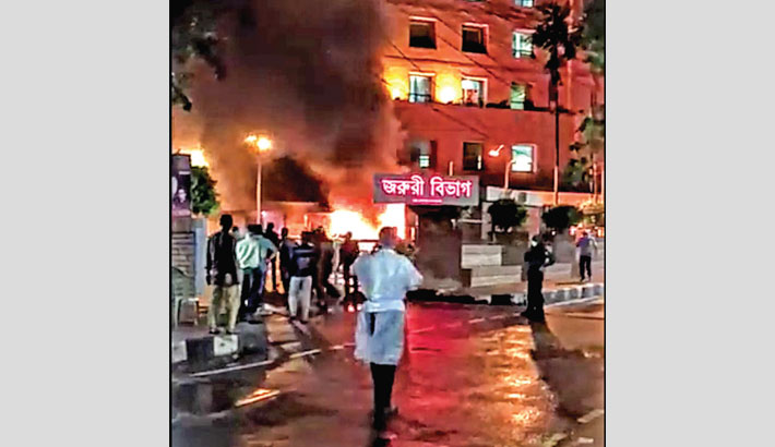 5 patients burnt alive