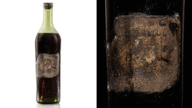 Cognac bottle, labelled one of world's oldest, sells for 118,000 pound