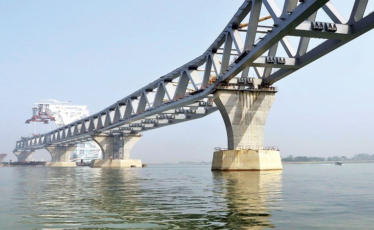 4.5 km of Padma Bridge visible after installation of 30th span