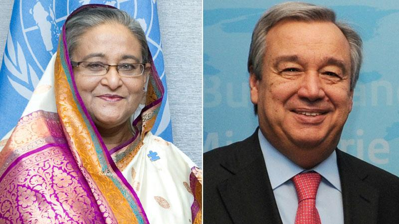 UN secy general greets PM on Int'l Day of UN Peacekeepers