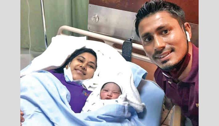 Ashraful blessed with a baby boy
