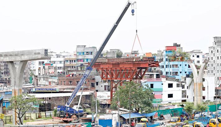 Works on Dhaka Elevated Expressway resume