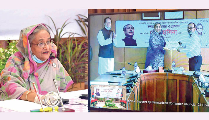 Prime Minister Sheikh Hasina announces results of SSC