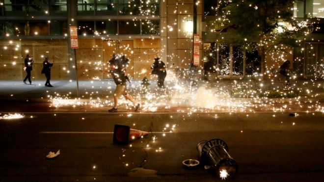 George Floyd death: Violence erupts across US on sixth day of protests